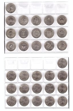 Kazakhstan - set 16 coins 50 Tenge 2011 - 2016 - Capital of the region of coats of arms - UNC