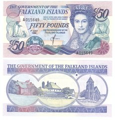 Falkland Islands - 50 Pounds 1990 - P. 13 - UNC