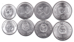Korea North - set 4 coins 5 10 50 100 Won 2005 - aUNC