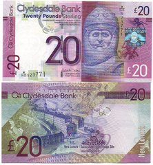 Шотландия - 20 Pounds 2015 Clydesdale Bank - aUNC