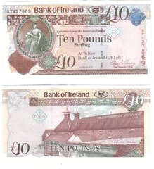 Северная Ирландия - 10 Pounds 2017 - Bank of Ireland - Paper - aUNC
